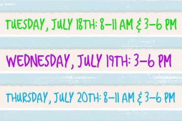 Week of July 17th: Office Hours
