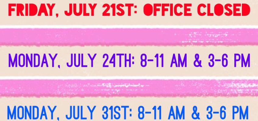 Office Hours Update!